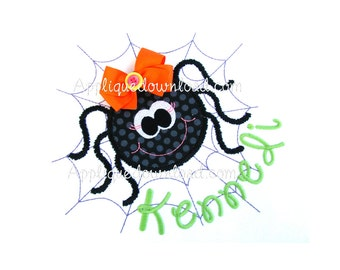Adorable Halloween Spider Applique Design - Instant EMAIL with Download - for Embroidery Machines