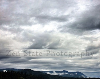 Lake and Sky Print. Landscape Photo. Landscape Print Wall Decor. Photo Print, Framed Print, or Canvas Print. iPhoneography.