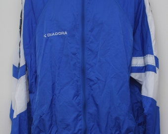 "Rare 80's Vintage ""DIADORA"" Windbreaker Jacket Sz: LARGE (Men's Exclusive)"