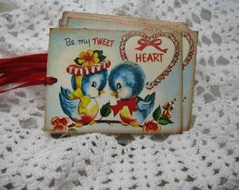 Retro Valentine Cards, Love Birds, Vintage Tags, Retro Valentine's Day, School Cards, Scrapbooking, Blue Birds, Kitsch, Love, Mr. & Mrs. - 5