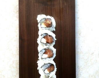 Tapered Walnut Sushi Tray