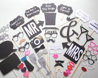 47pc * Wedding Photobooth Props/Photobooth Props/Wedding Party Props