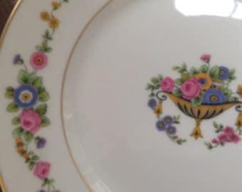 Half Price Haviland Sale, Antique Haviland Limoges Dinner Plate, Urn Of Flowers, France, Limoges Plate, French Country, Antique Gift,  C
