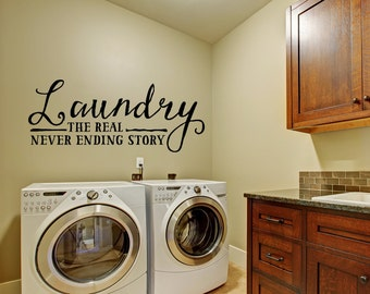 Laundry Wall Decal - Wall Decal - Laundry Room Decor - Laundry Decal Wall Decals - Wall Vinyl - Vinyl Decal - Wall Decor - Decals -
