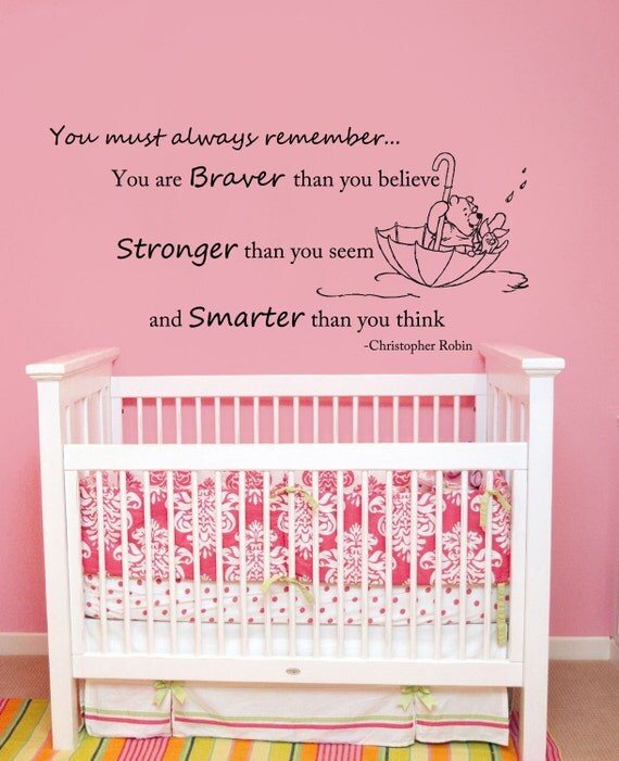 Stickers muraux citations winnie l 39 ourson wall decal par for Stickers muraux citations chambre