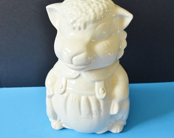 Antique Lamb Cookie Jar from American Bisque Co