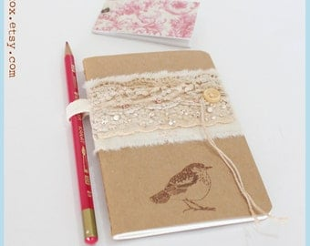 Moleskine notebook, moleskine cover, moleskine pen holder, moleskine sketchbook, journal, notebook, handmade MOLESKINE with LACY STRIPRE