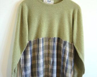 Handmade Vintage Lambswool Sweater & Men's Shirt Dress