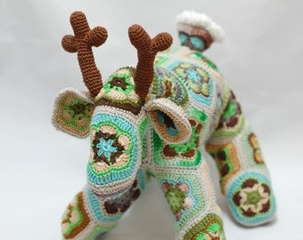 African Flower Crochet Deer, Forest Fairy Tale
