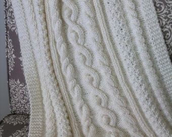 PATTERN Cabled Baby Blanket / Afghan PATTERN - PDF Great Gift Idea