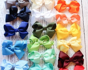 26 COLORS available, PICK ONE , Baby clip, newborn, toddler, girls hair bows.