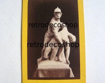 1870's original photo Ajax and Patroclus sculpture