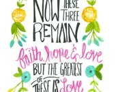 1 Corinthians 13:13 - Love is the Greatest Print