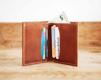 Men's leather WALLET // Brown Bifold WALLET // Brown Mens card holder wallet // Credit card holder // Card case // Leather wallets CASUAL