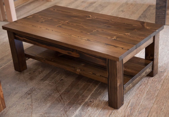 items similar to solid wood coffee table rustic coffee table farmhouse coffee table built. Black Bedroom Furniture Sets. Home Design Ideas