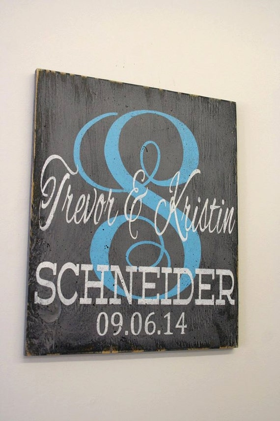 Wedding Gift Name Sign : Personalized Name Sign Monogram Wedding Gift Bridal Shower Gift ...