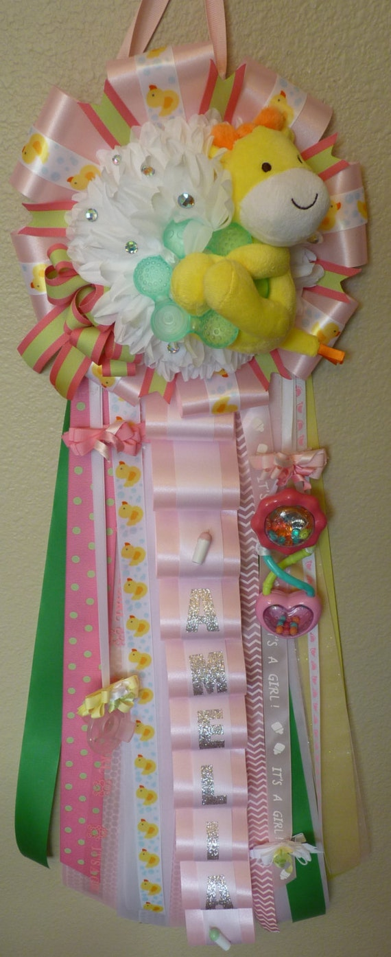 baby shower mum for girl by peachykeenmums on etsy