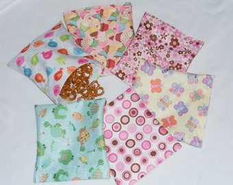Snack Bag Reusable - Set of 6 pcs Reusable Snack & Sandwich bags- Mix patter for Girl