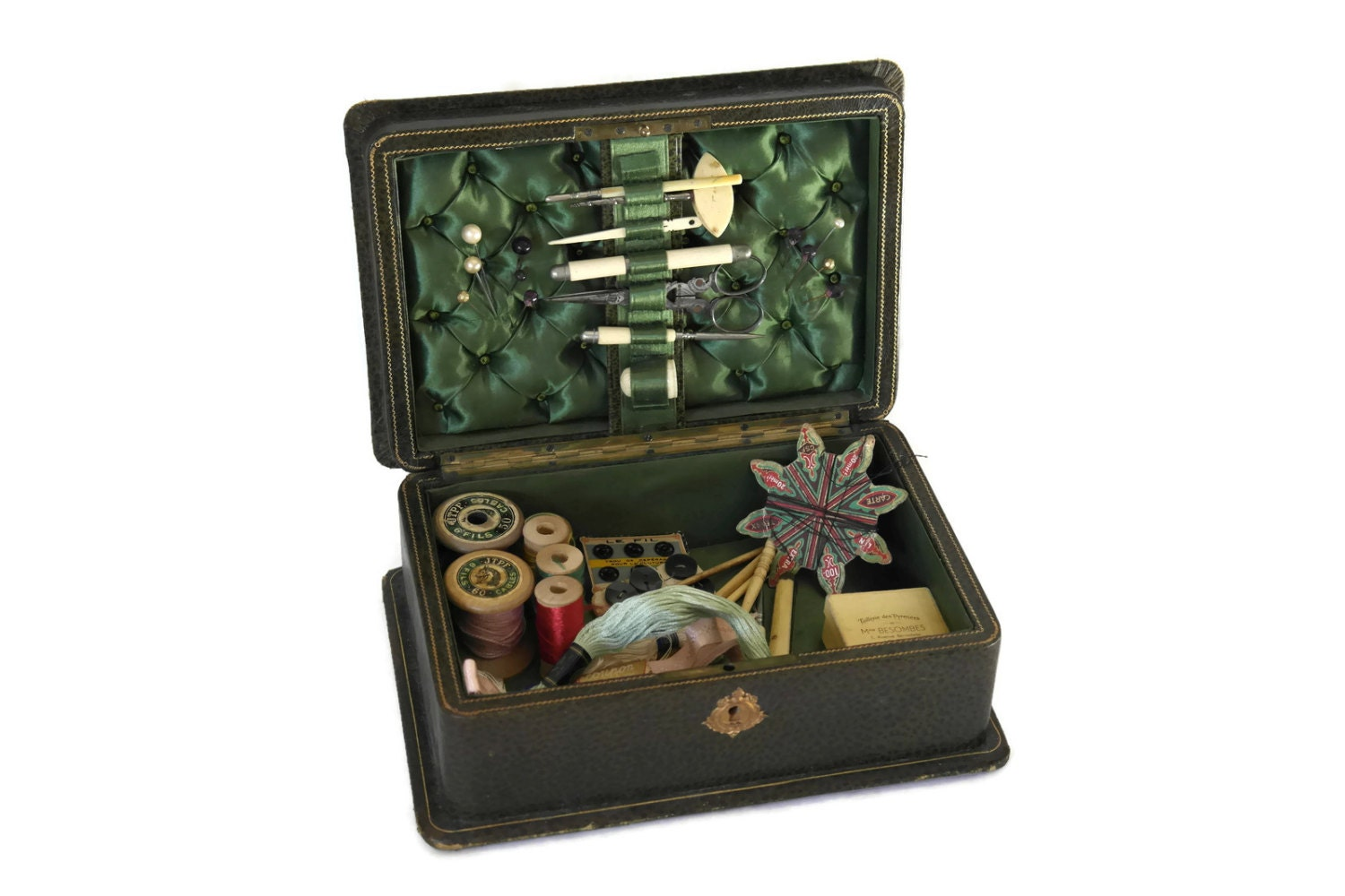 19th Century Sewing Box Antique French Sewing Casket 1800s