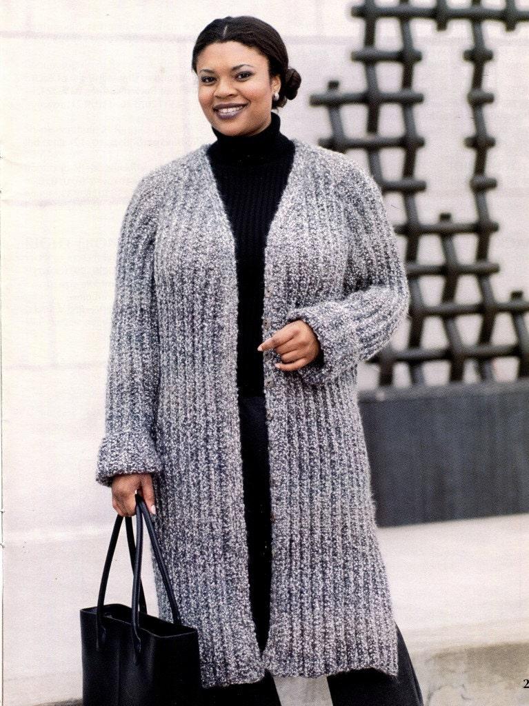 Plus Size Knitting Patterns : Knitting Pattern Book PLUS SIZE SWEATERS Large to by KenyonBooks