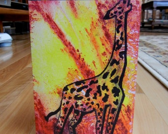 Giraffe Greeting Card (with envelope)
