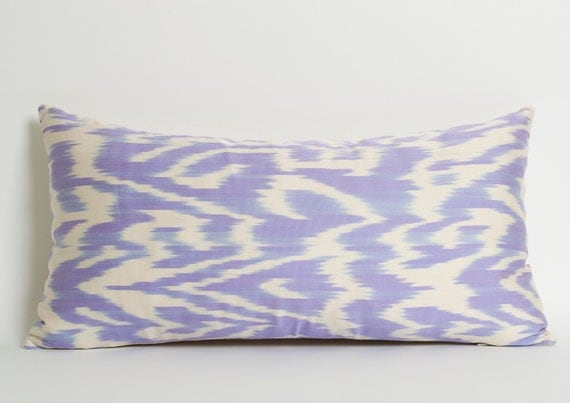 Purple Ikat Pillow Cover Lilac Light Purple Ethnic by pillowme