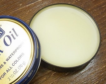 MINK OIL PASTE Leather Conditioner WaterProof proTect and condition from snow salt rain water Boot Shoe Tin Can Meltonian 05410