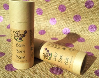 Baby Bum Balm All Natural Organic Cloth Diaper Safe Diaper Cream in a Stick! // New Mom Baby Shower Gift Under 10