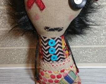 Loni Handmade Art Doll