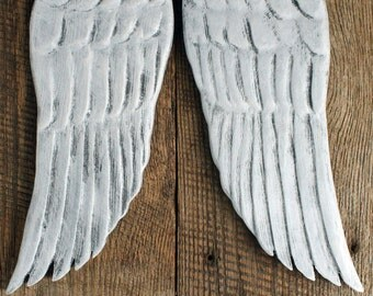 """Angel Wings, 14"""",  Carved Wood Angel Wings, Handmade"""