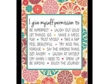 PRINTABLE Brene Brown inspired 5x7 print