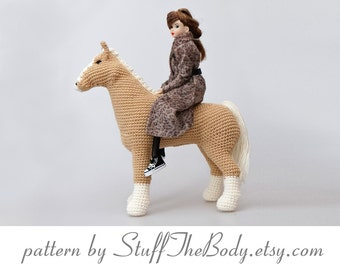 Abby The Horse Amigurumi Pattern, Pony Crochet Pattern, home decor, plushie toy, birthday present, baby shower, nursery decor, eco