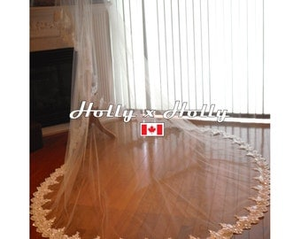 Lace wedding veil cathedral wedding veil cathedral veil lace veil