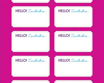 baby shower name tag cute as a bu tton theme printable