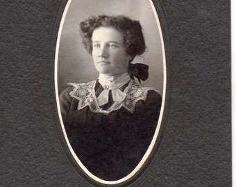 Antique Photo of Cute Young Woman