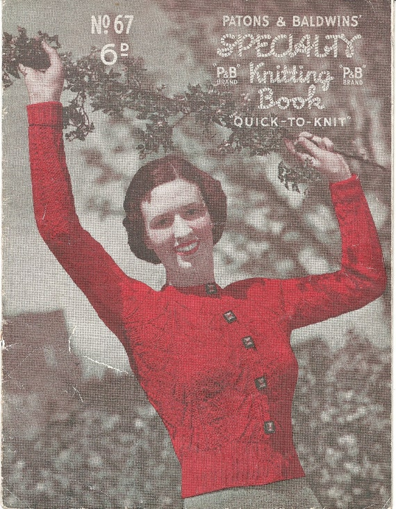 Vintage 1930s Knitting Patons Specialty Knitting Book No. 67