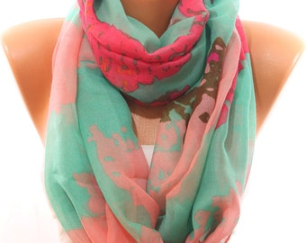 Animal Print Multicolor Scarf Lightweight Spring Summer Trend Scarf Infinity Scarf Women's Fashion Accessories Scarves Gift Ideas For Her