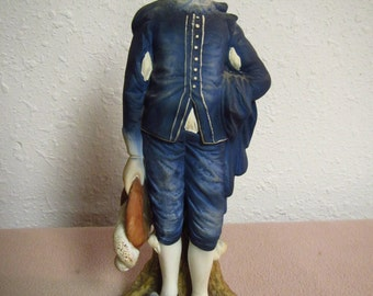 "Vintage Old Master Series "" BLUE BOY Statue ""  Lefton  made in Japan .   limited edition   KW2824,  10 inches tall"