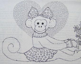 Monkey Pattern Stuffed Monkey Animal Toy Uncut