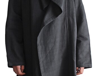 ChomThong Hand Woven Cotton Loose Cloak Jacket  (J-029-05)