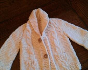 Vintage hand knit child sweater.Mini Grandpa!