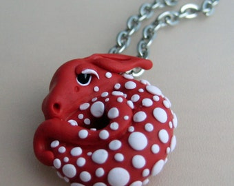 Toadstool Dragon Necklace