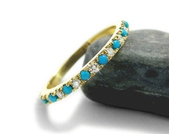 turquoise wedding rings