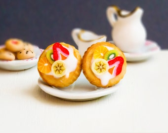 Cake earrings miniature food