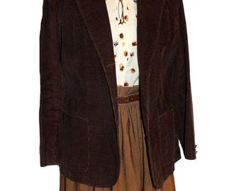 Vintage 1970's  brown corduroy jacket | 70s jacket | 70s blazer