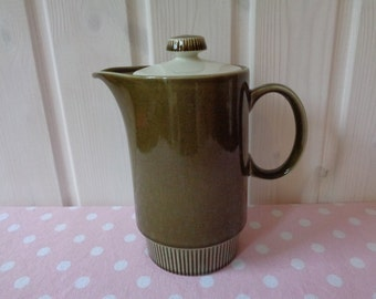 Poole Pottery Two Person Coffee Pot in Green - Coffee Jug - Vintage Tableware - Poole Pottery England