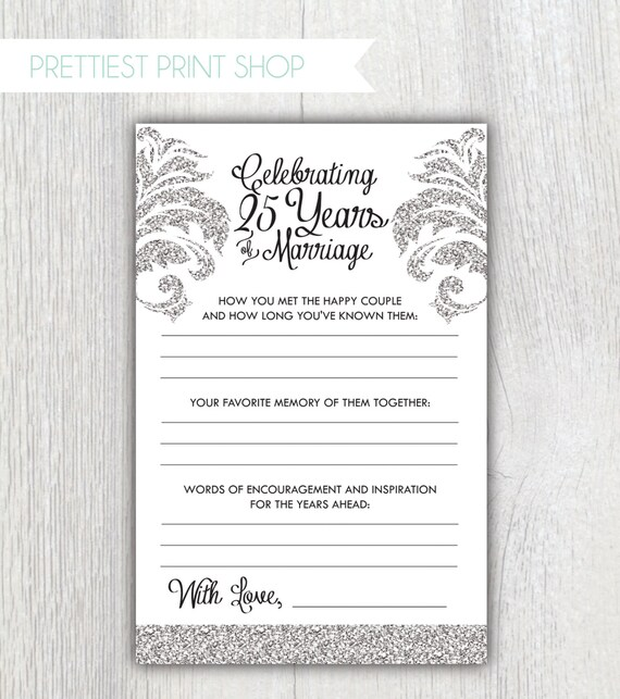 Printable Anniversary Party Sheets