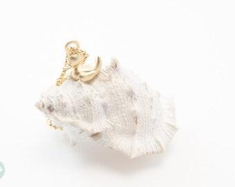Duck bracelet, cute duck bracelet, duck, gold bracelet, charm bracelet, gold chain bracelet, cute bracelet, friendship bracelet, gold chain
