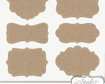 Clip Art Burlap Frames Labels tags Digital Frames Digital burlap clipart linen frame Digital Border Commercial Use