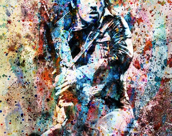 Bruce Springsteen Art Print, Fine Art Painting, Limited Edition Print